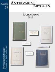 ~ Julekatalog ~ 2012 Katalog - Antikvariat Bryggen