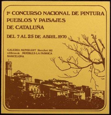 concurso nacional de pintura pueblos y paisajes de cataluña