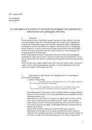 En undersøgelse af anvendelse af anerkendende pædagogik med ...