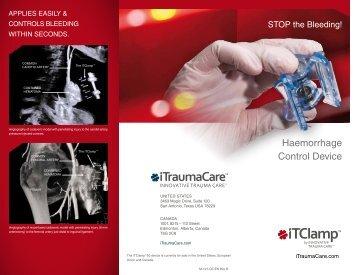 iTClamp™ Haemorrhage Control Device Flyer - Bound Tree Medical