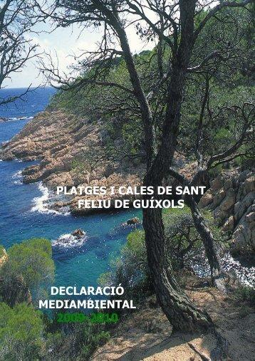 Declaració ambiental 2009-2010 (pdf) - Ajuntament de Sant Feliu de ...