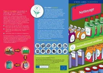Nettoyage - Ecolabel