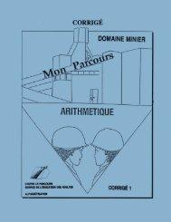 Arithmétique : domaine minier : corrigé 1
