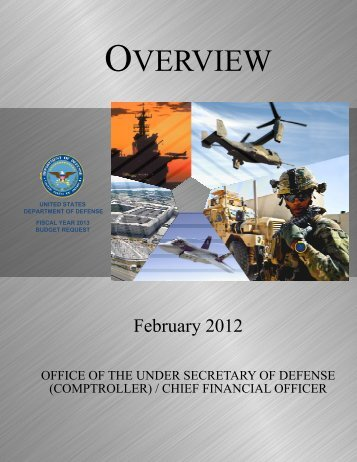Overview - FY2013 Defense Budget - Office of the Under Secretary ...