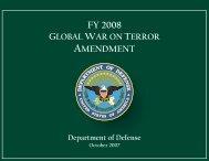 FY 2008 Global War on Terror Amendment - Comptroller