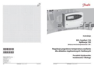 ECL Comfort 110, appl. 130, version 1.08 - Danfoss