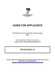 GUIDE FOR APPLICANTS - EU Projects Office