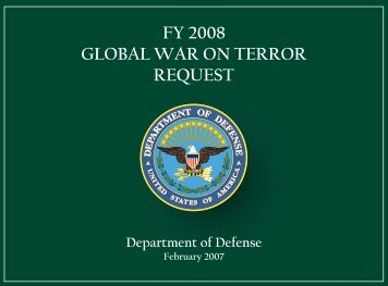fy 2008 global war on terror request - Office of the Under Secretary ...