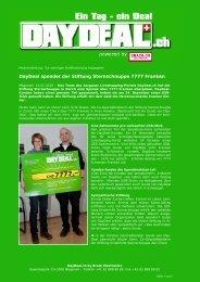 DayDeal spendet der Stiftung Sternschnuppe 7777 Franken - Brack ...