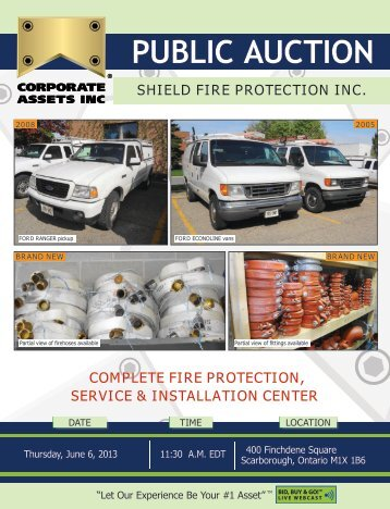Shield Fire proteCtion inC. - Corporate Assets Inc.