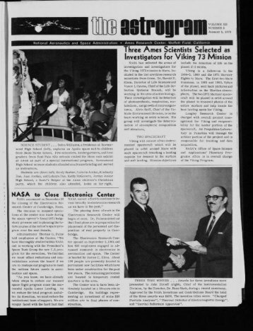 Three -mes Scientists Selected as - NASA Ames History Office