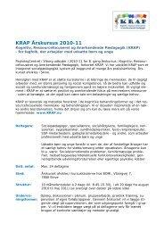 Kognitiv, Ressourcefocuseret og Anerkendende Pædagogik (KRAP)