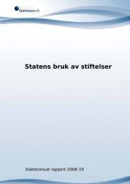 Rapport 2006:19 Statens bruk av stiftelser - Difi