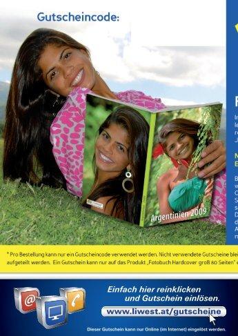 10€ Gutschein-Code für ein Fotobuch Hardcover von - Liwest
