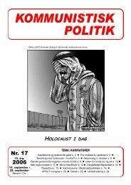 Kommunistisk Politik 17, 2006 i pdf