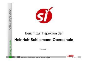 Bericht zur Inspektion der Heinrich-Schliemann-Oberschule