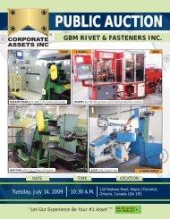GBM Rivet & Fastener, Inc. Public Auction