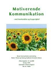 MFT Synopsis Motiverende kommunikation - Marina Aagaard