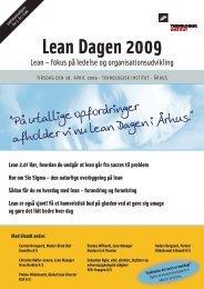 Lean Dagen 2009 Lean Dag - Teknologisk Institut