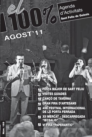 Agenda d'activitats el 100% mes d'agost - Ajuntament de Sant Feliu ...