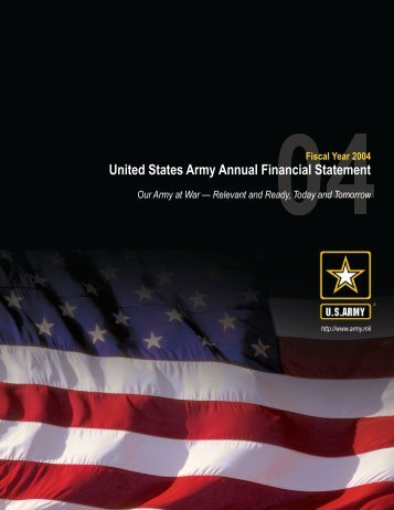 United States Army Annual Financial Statement - Office of the Under ...