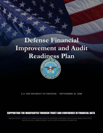 DoD Financial Improvement and Audit Readiness Plan - Comptroller