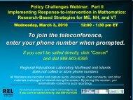 view webinar slides, part 2 - REL Northeast & Islands - Regional ...