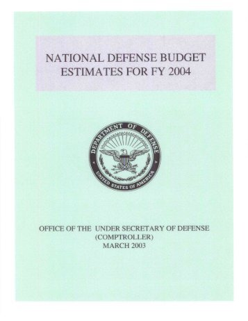 Green Book - Office of the Under Secretary of Defense (Comptroller)