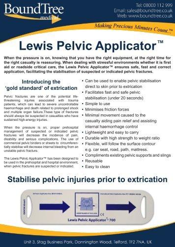 Lewis Pelvic Applicator™ Flyer - Bound Tree Medical