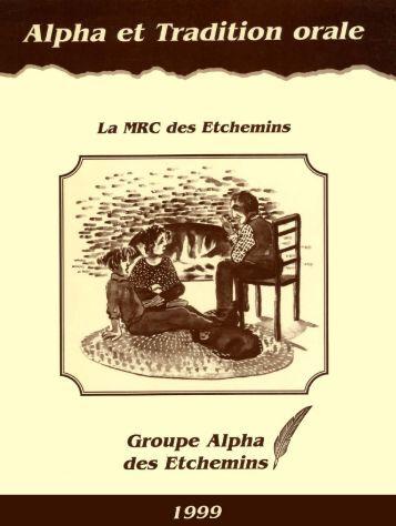 Alpha et tradition orale : la MRC des Etchemins