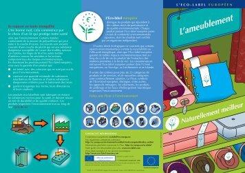 L'Eco-label européen Se reposer en toute tranquilité Une bonne nuit ...