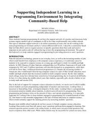 Supporting Independent Learning in a Programming Environment ...