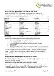 Anerkendelse af sprogassessments der er foretaget ... - Trafikstyrelsen