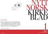 Nytt norsk kirkeblad nr 1-2012 - Det praktisk-teologiske seminar
