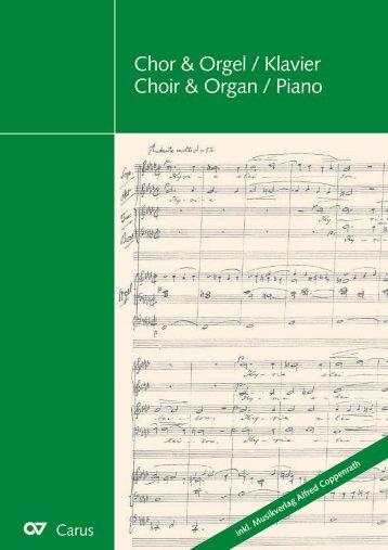Chor & Orgel / Klavier Choir & Organ / Piano