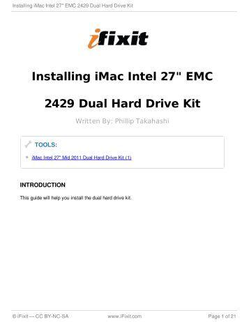"Installing iMac Intel 27"" EMC 2429 Dual Hard Drive Kit"