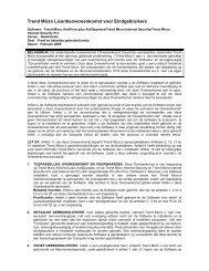 Trend Micro Licentieovereenkomst voor ... - Digital River, Inc.