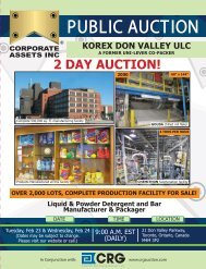 2 DAY AUCTION! - Corporate Assets Inc.