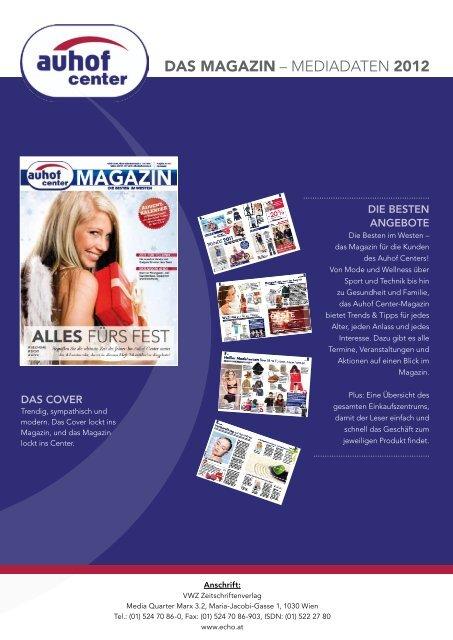 Das Magazin – Mediadaten 2012 - Auhofcenter