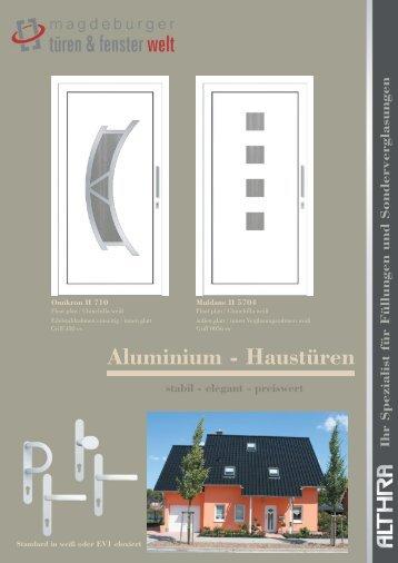 Aluminium - Haustüren - Mdtf-welt.de