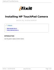 Installing HP TouchPad Camera - iFixit