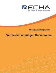 Praxisanleitung 10: Vermeiden unnötiger ... - ECHA - Europa