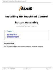 Installing HP TouchPad Control Button Assembly - iFixit