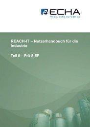REACH-IT – Nutzerhandbuch für die Industrie - ECHA - Europa