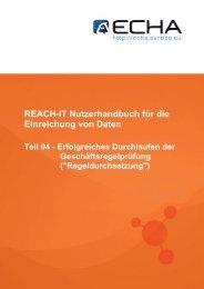 REACH-IT Nutzerhandbuch für die Einreichung ... - ECHA - Europa