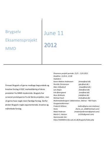 Brygselv Eksamensprojekt MMD
