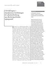 Udviklingen i danskernes holdninger til alkoholforbrug og ...