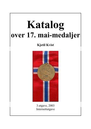 Katalog over 17. mai-medaljer (pdf) - Gullmedalje.com