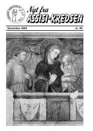 December 2005 nr. 49 - Assisi-Kredsen