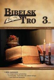 Bibelsk Tro nr.3 2012 - Shafan.dk